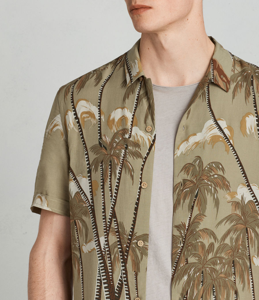 Men's Nalu Hawaiian Shirt (khaki) - Image 2