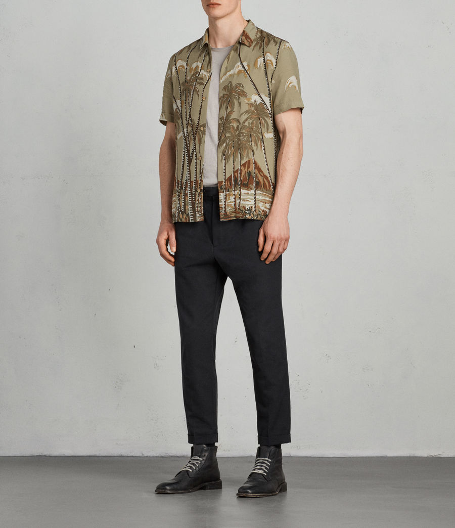 Men's Nalu Hawaiian Shirt (khaki) - Image 3