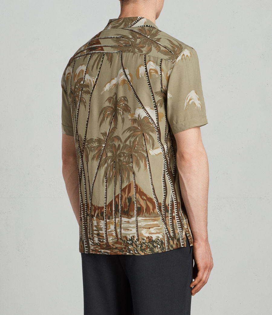 Men's Nalu Hawaiian Shirt (khaki) - Image 4