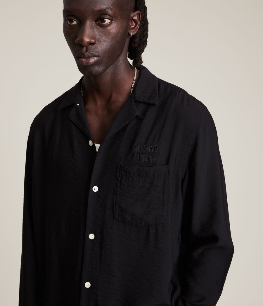 Men's Commune Shirt (jet_black) - Image 2