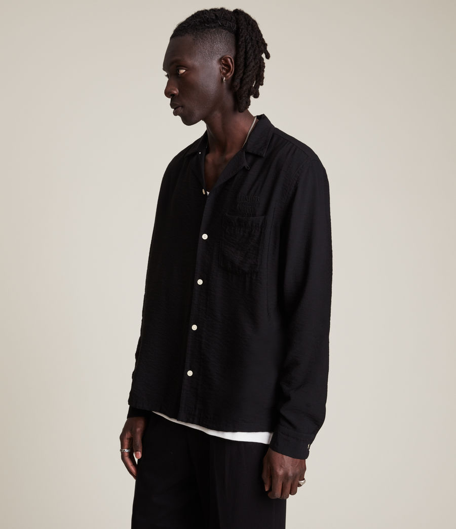 Men's Commune Shirt (jet_black) - Image 4