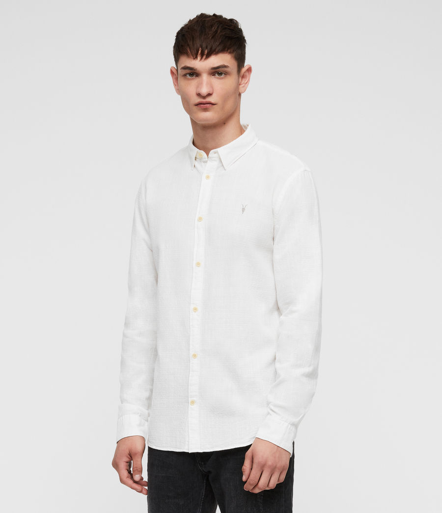 Mens Dulwich Shirt (white) - Image 3