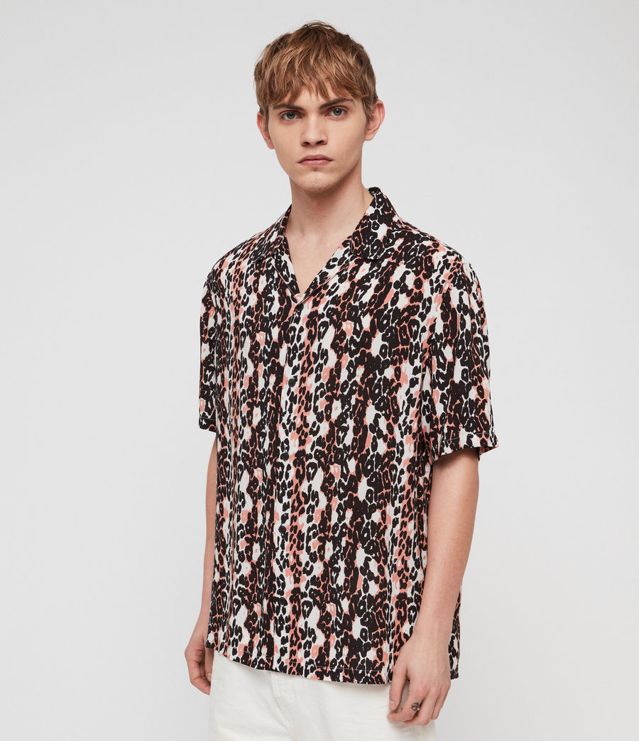 Men's Feline Stripe Shirt (orange_black_white) - Image 3