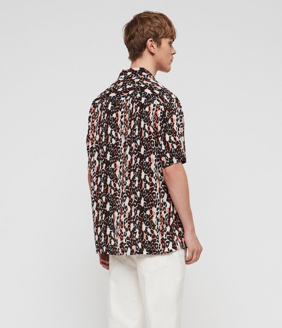 Men's Feline Stripe Shirt (orange_black_white) - Image 4
