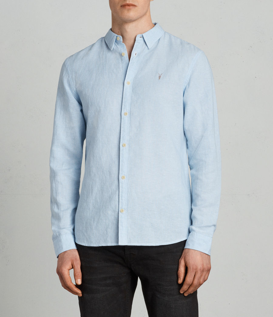 Men's Auckland Shirt (light_blue_stripe) - Image 1
