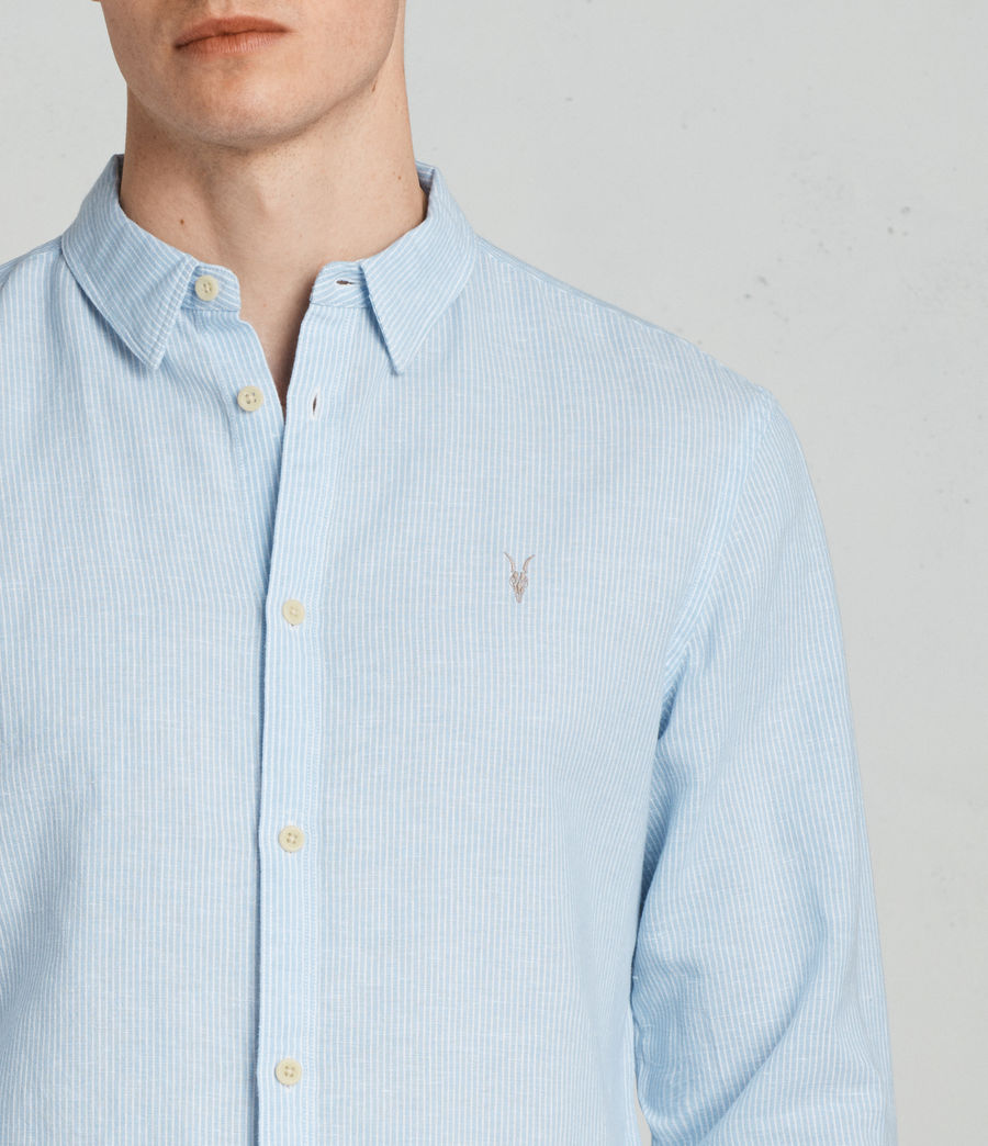 Men's Auckland Shirt (light_blue_stripe) - Image 2