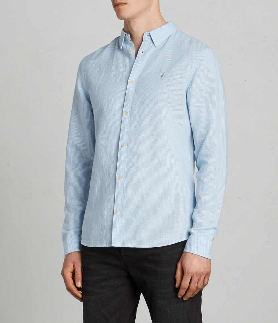 Men's Auckland Shirt (light_blue_stripe) - Image 3