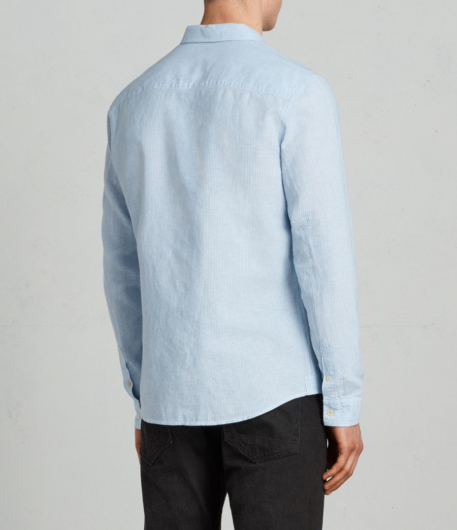 Men's Auckland Shirt (light_blue_stripe) - Image 4