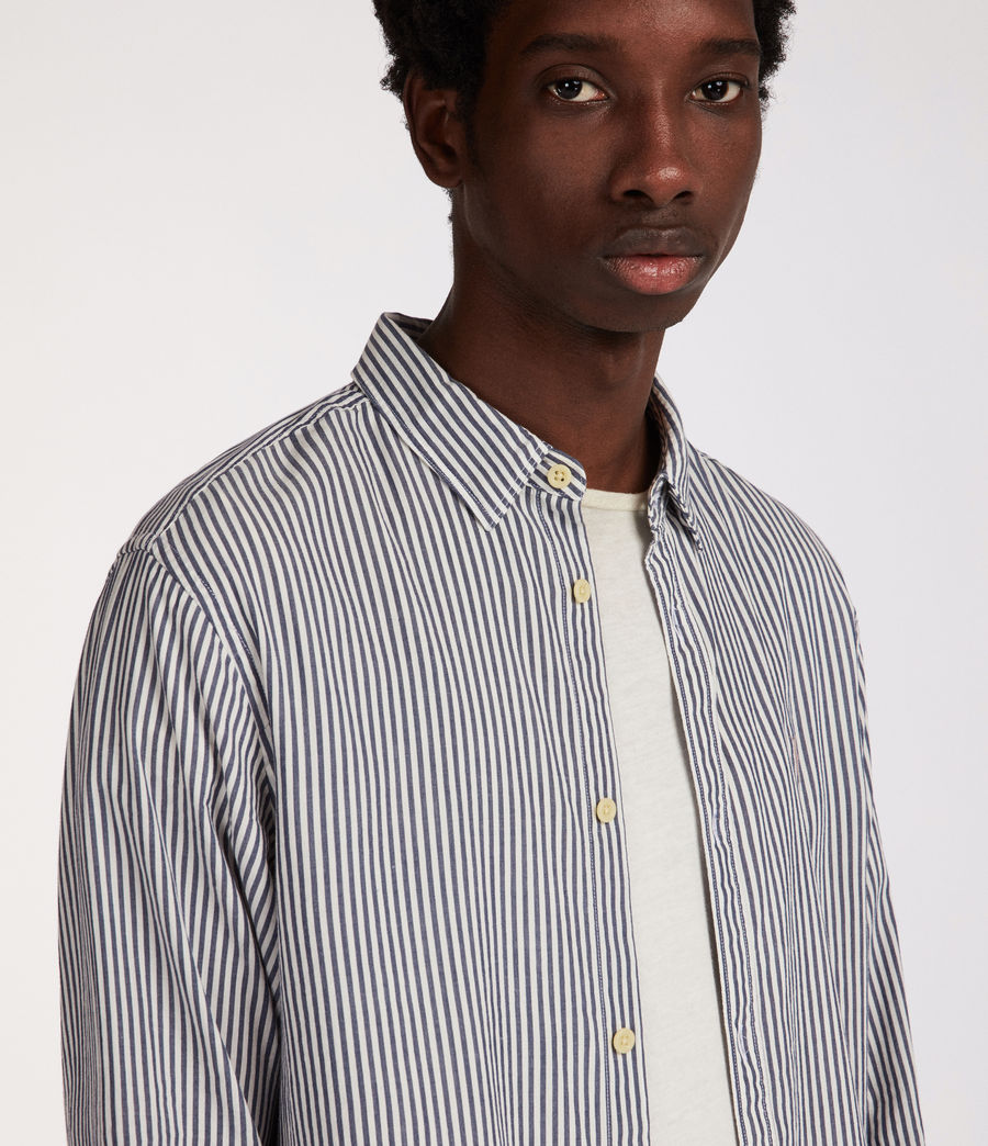 Men's Elderwood Shirt (ink_navy_white) - Image 2