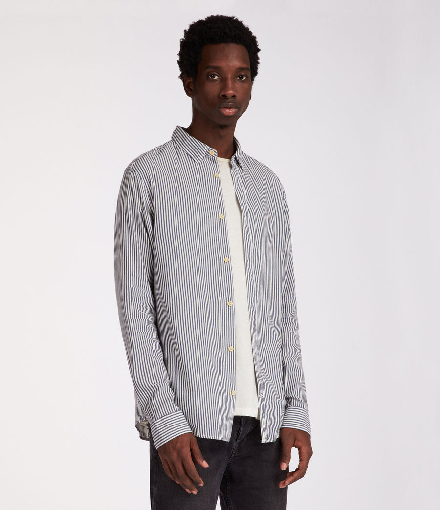 Men's Elderwood Shirt (ink_navy_white) - Image 3
