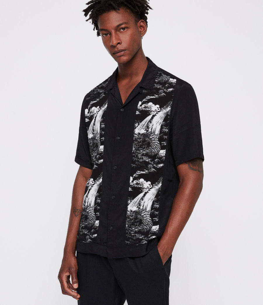 Men's Bozeman Shirt (black_white) - Image 1