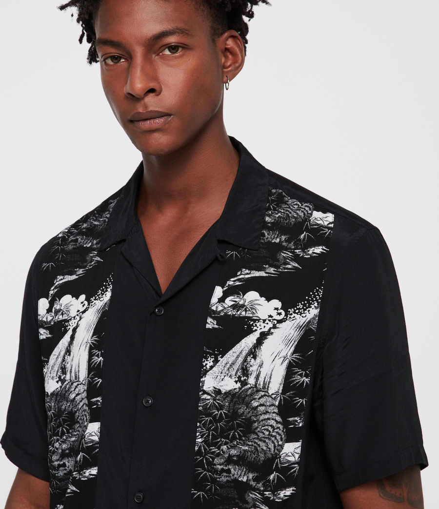 Men's Bozeman Shirt (black_white) - Image 3
