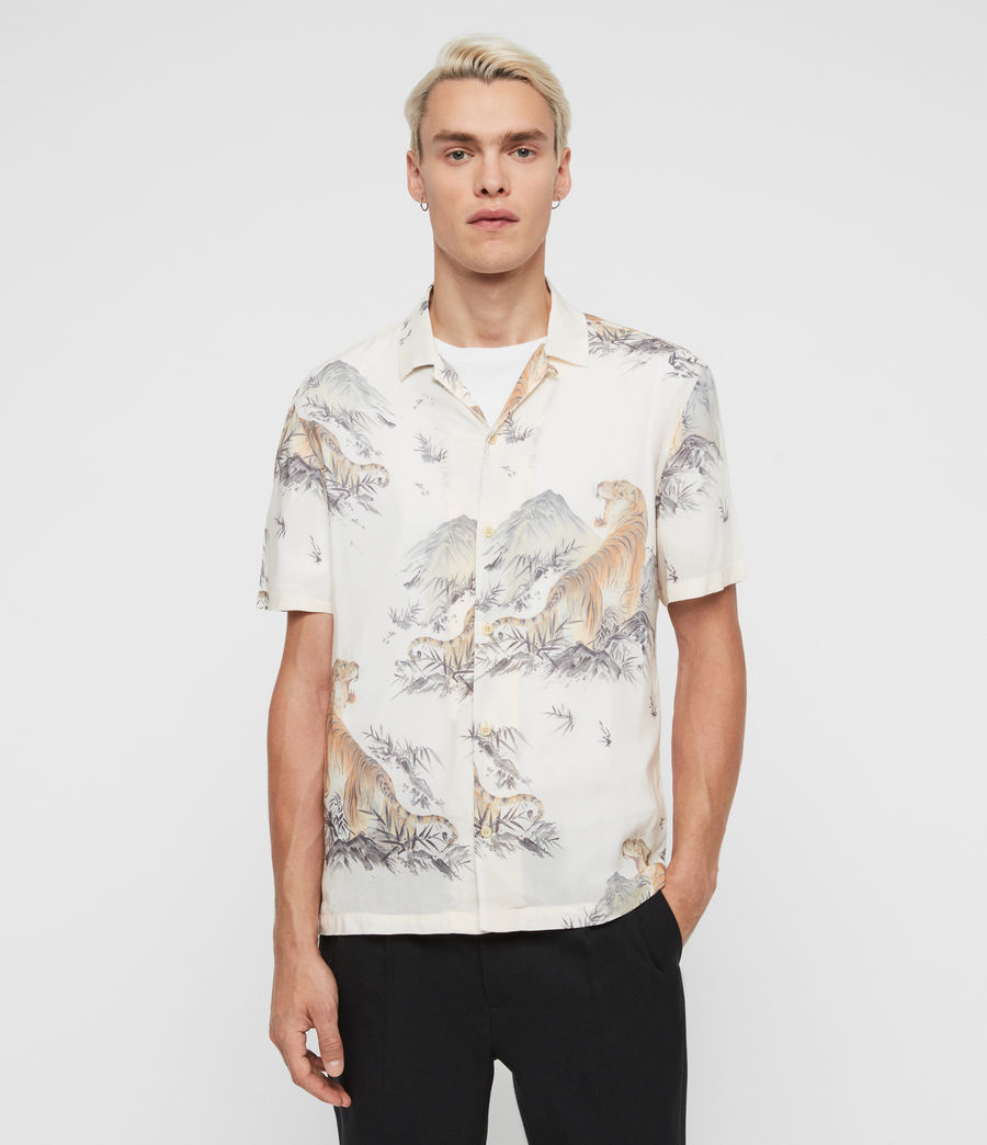 Men's Kayan Shirt (ecru_white) - Image 1