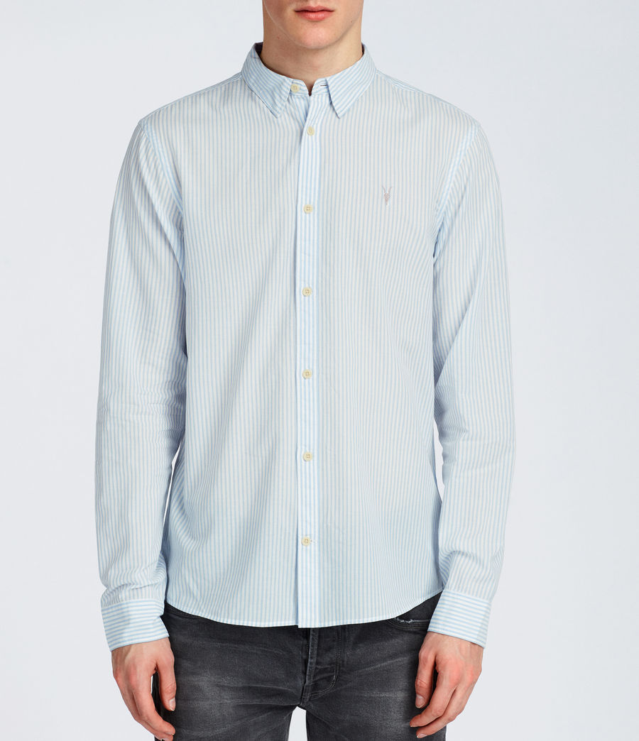 Hommes Chemise Summit (light_blue_stripe) - Image 1