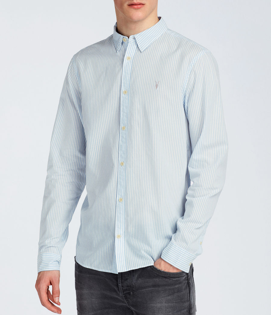 Hommes Chemise Summit (light_blue_stripe) - Image 3