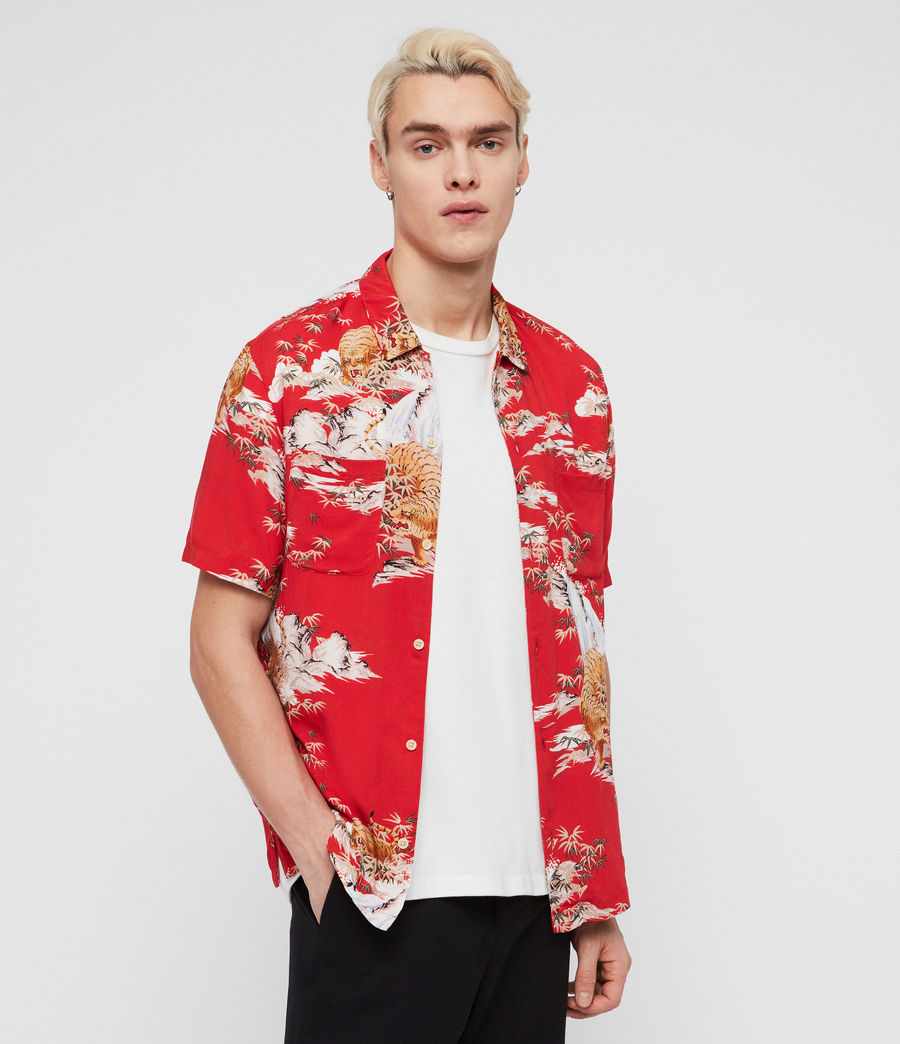 Men's Indo Shirt (red) - Image 1