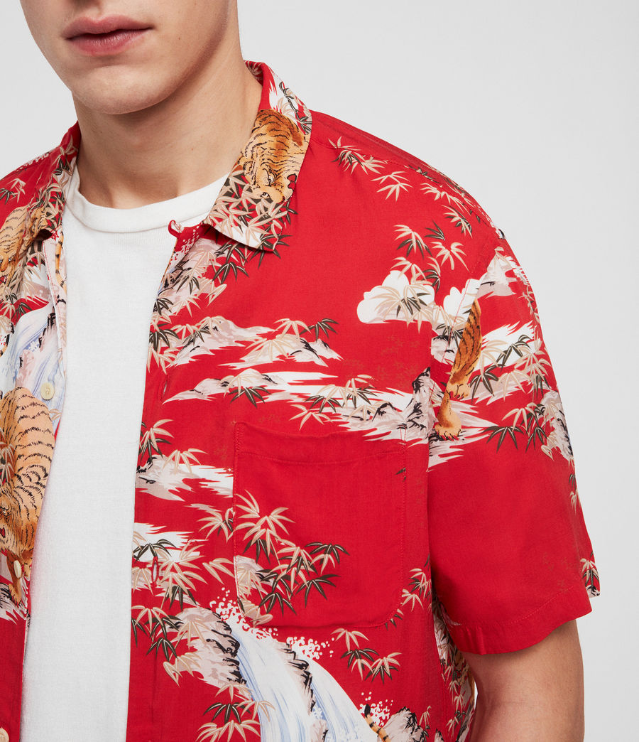 Men's Indo Shirt (red) - Image 2