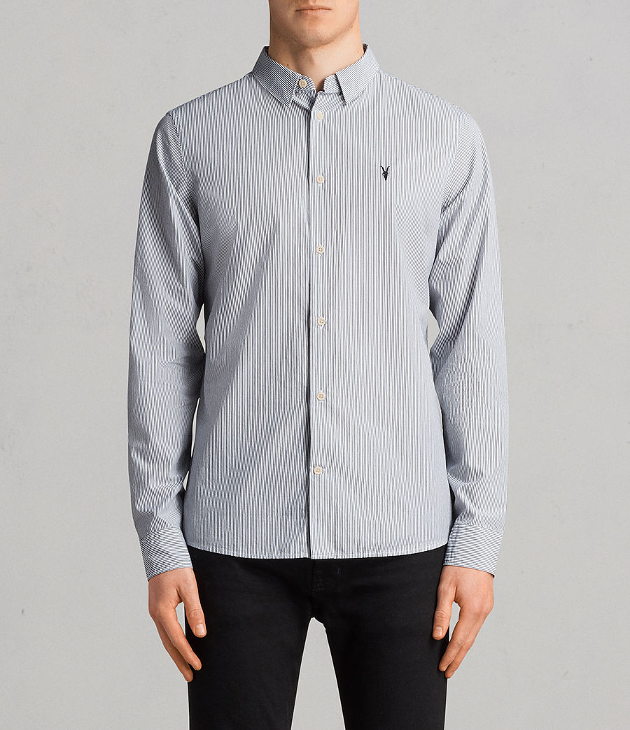 Men's Kelso Shirt (ink_stripe) - Image 1