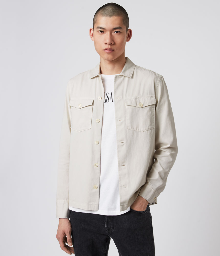 Men's Spotter Shirt (bleach_grey) - Image 2