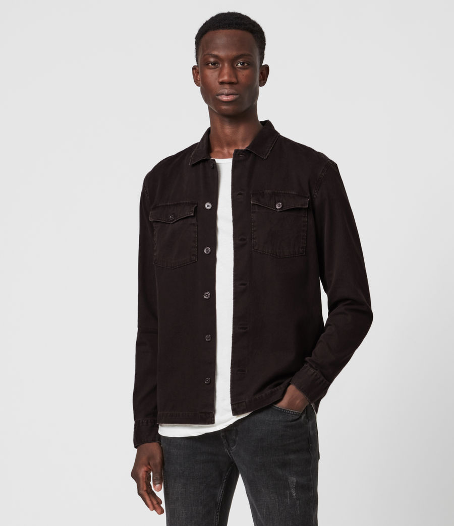 Mens Spotter Shirt (dark_garnet_red) - Image 1
