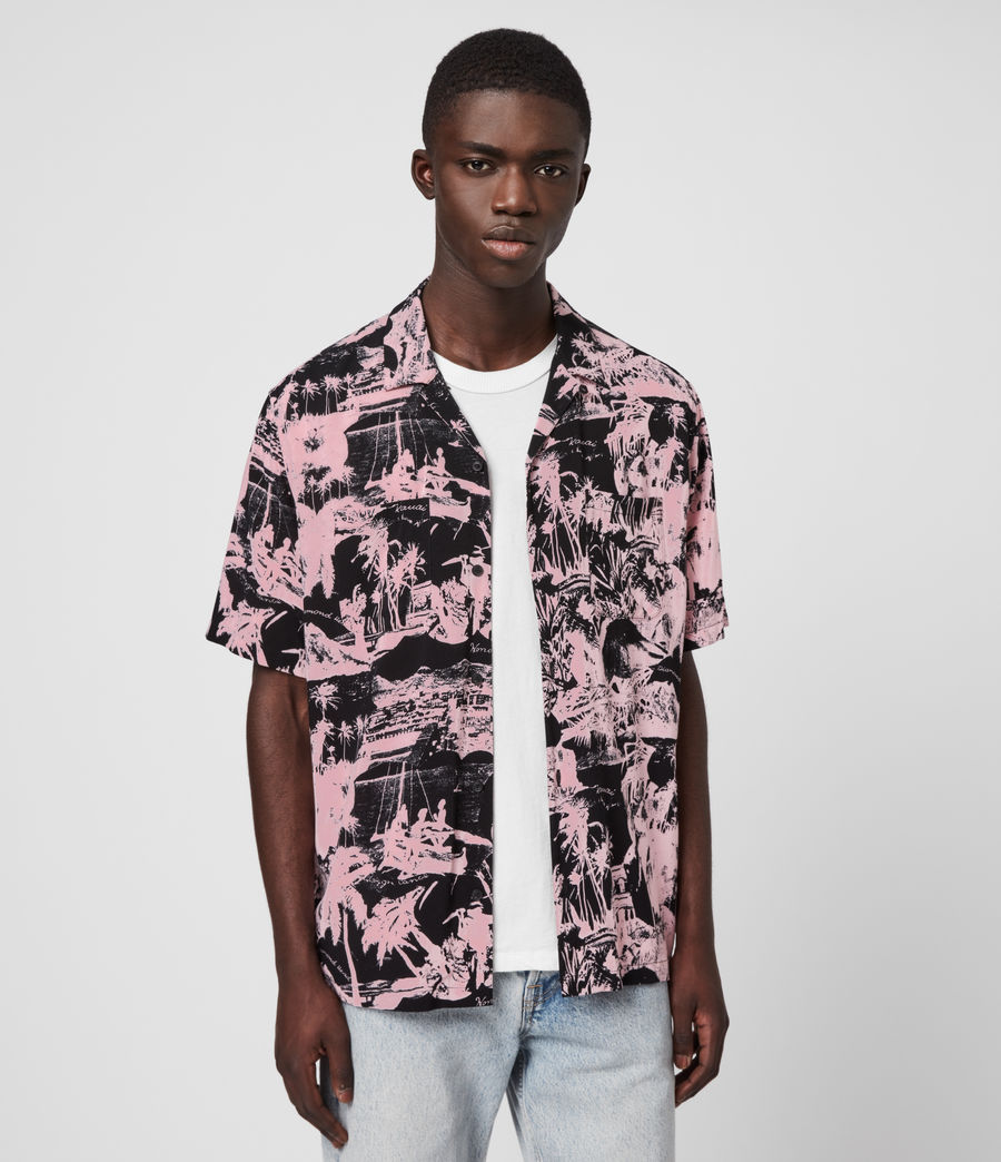 Men's Awa Shirt (pink_black) - Image 1