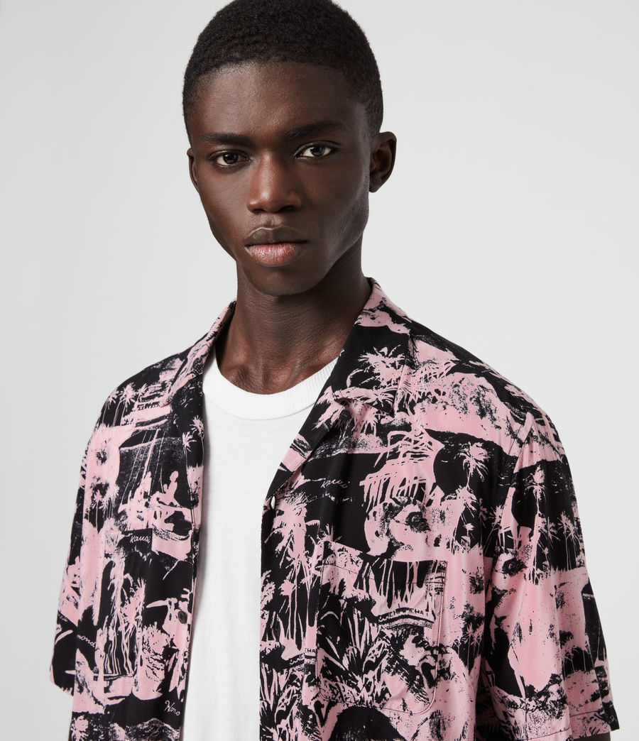 Men's Awa Shirt (pink_black) - Image 2