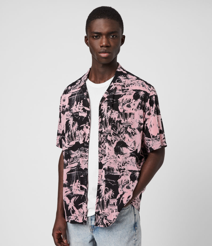 Mens Awa Shirt (pink_black) - Image 4
