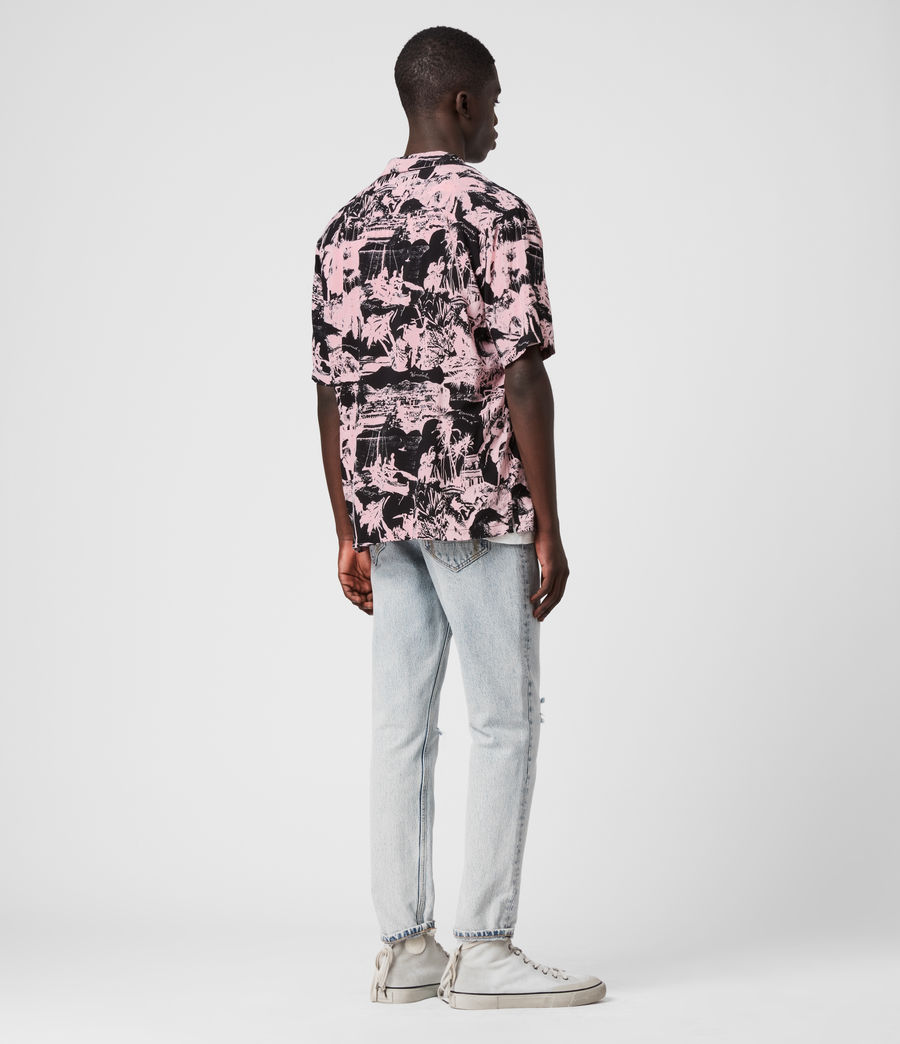 Men's Awa Shirt (pink_black) - Image 5