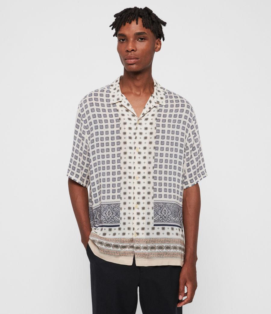 Mens Corsican Shirt (ecru_white) - Image 1