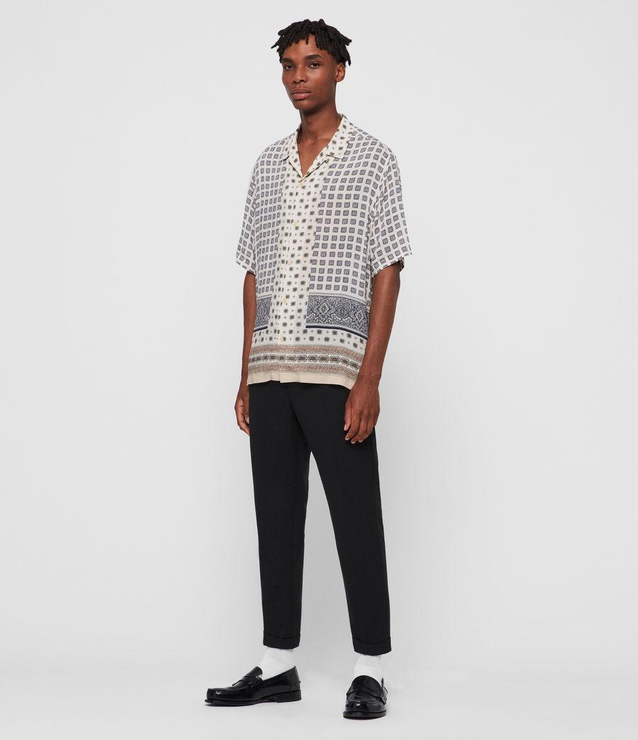 Mens Corsican Shirt (ecru_white) - Image 3