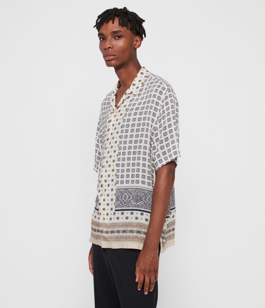 Mens Corsican Shirt (ecru_white) - Image 4