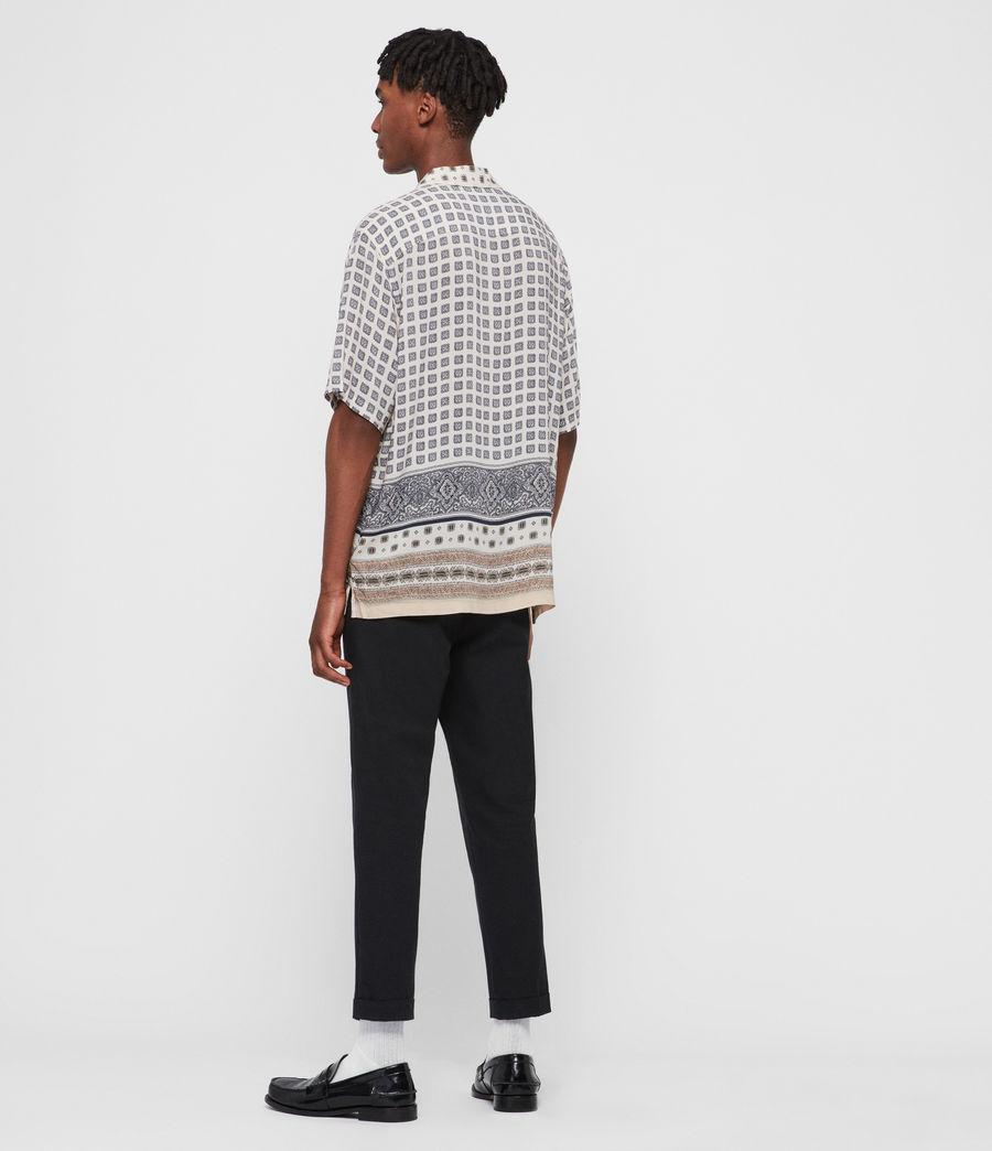 Mens Corsican Shirt (ecru_white) - Image 5