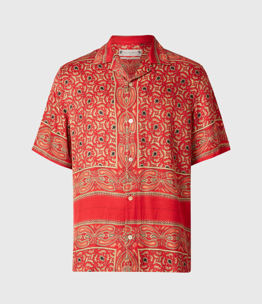 Mens Sinaloa Shirt (infernal_red) - Image 2