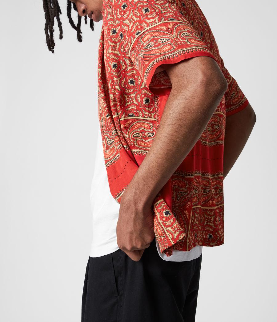 Mens Sinaloa Shirt (infernal_red) - Image 4