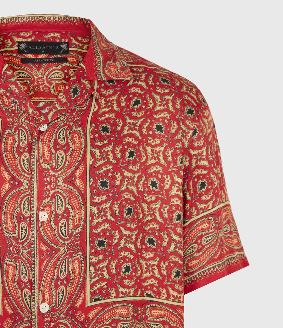Mens Sinaloa Shirt (infernal_red) - Image 5