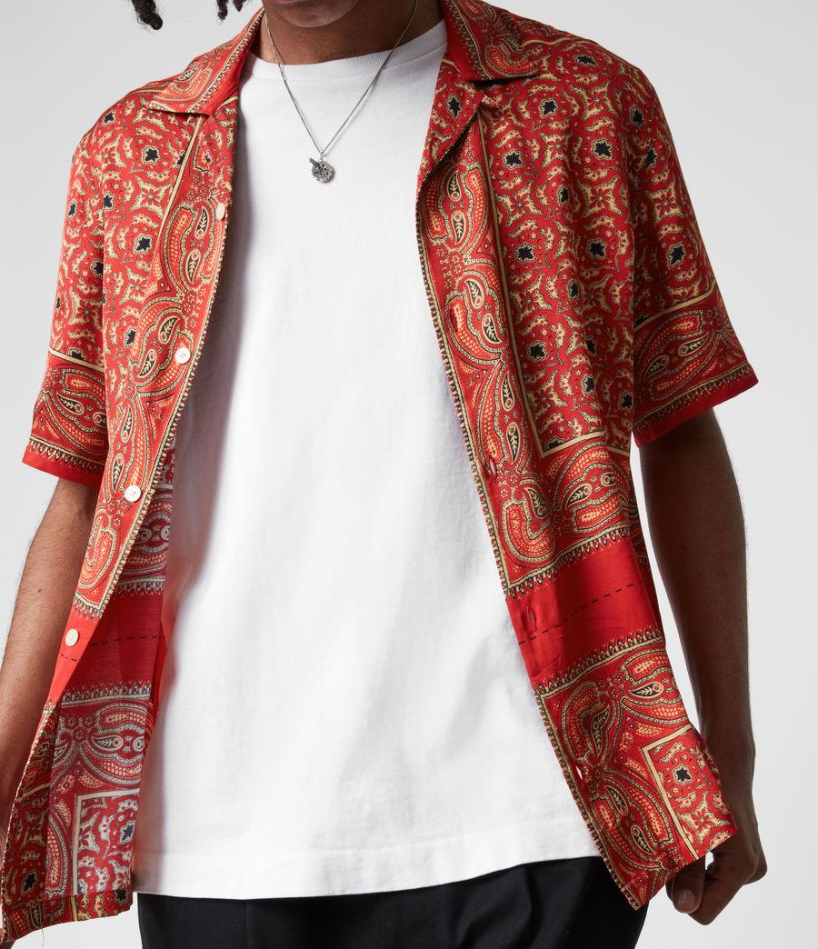 Mens Sinaloa Shirt (infernal_red) - Image 6