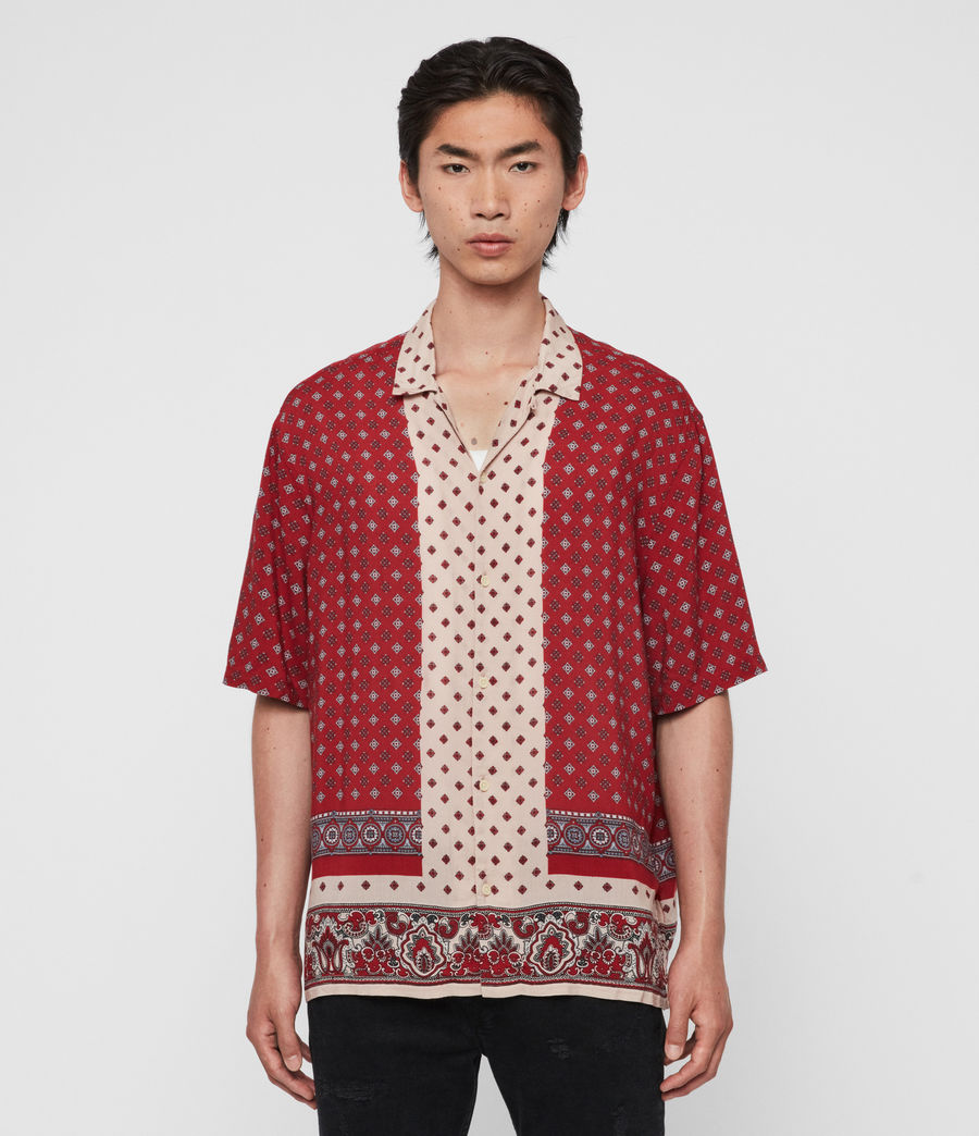 Men's Maltese Shirt (red) - Image 1