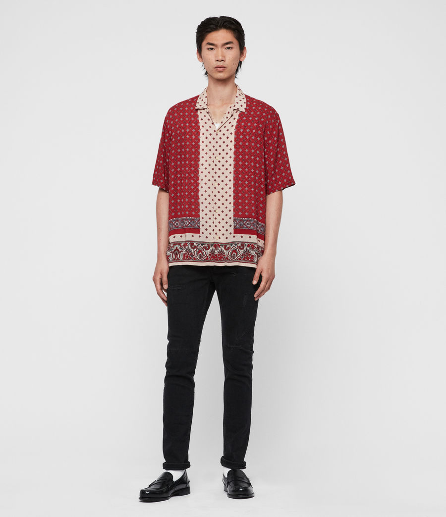 Men's Maltese Shirt (red) - Image 3