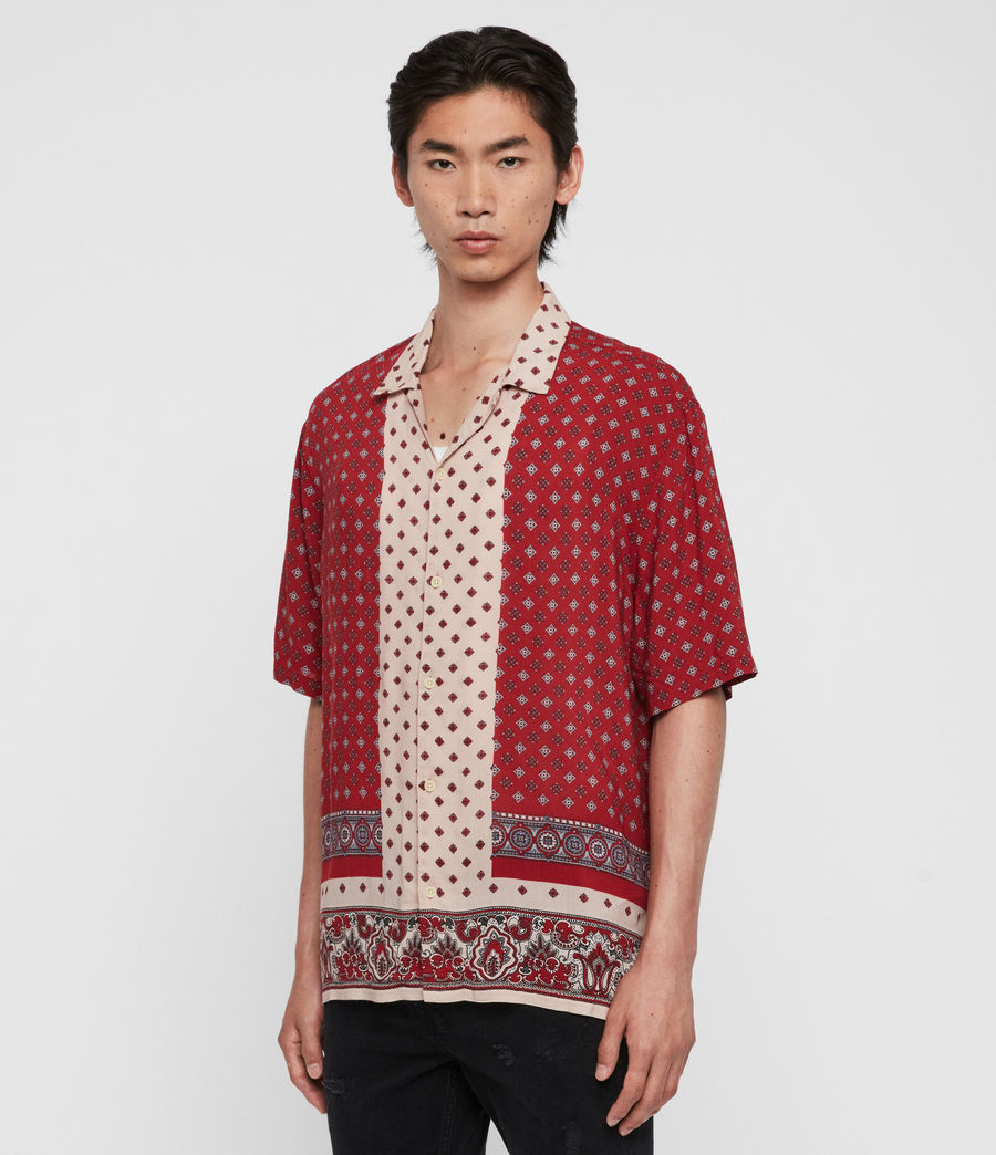 Men's Maltese Shirt (red) - Image 4