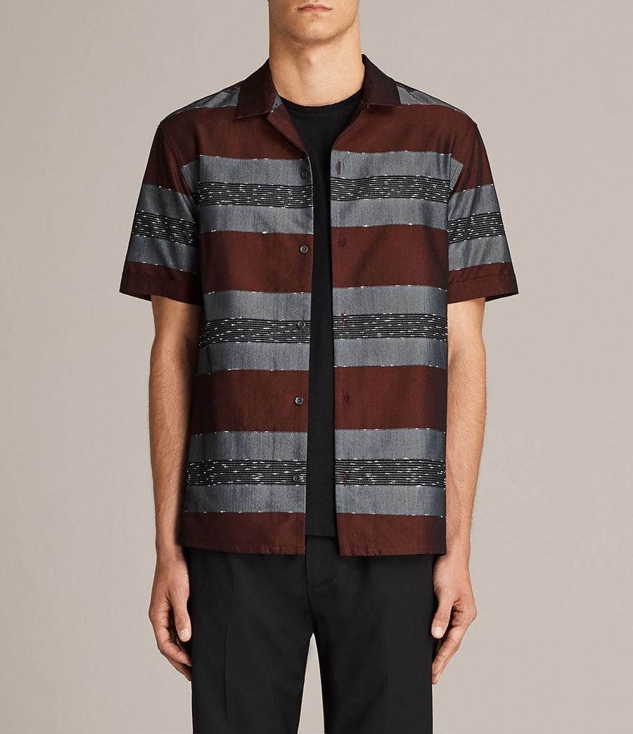Men's Gabon Short Sleeve Shirt (red) - Image 1