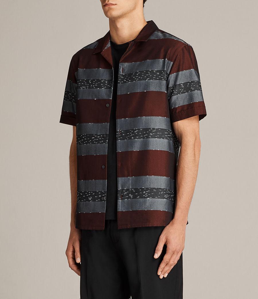 Men's Gabon Short Sleeve Shirt (red) - Image 3
