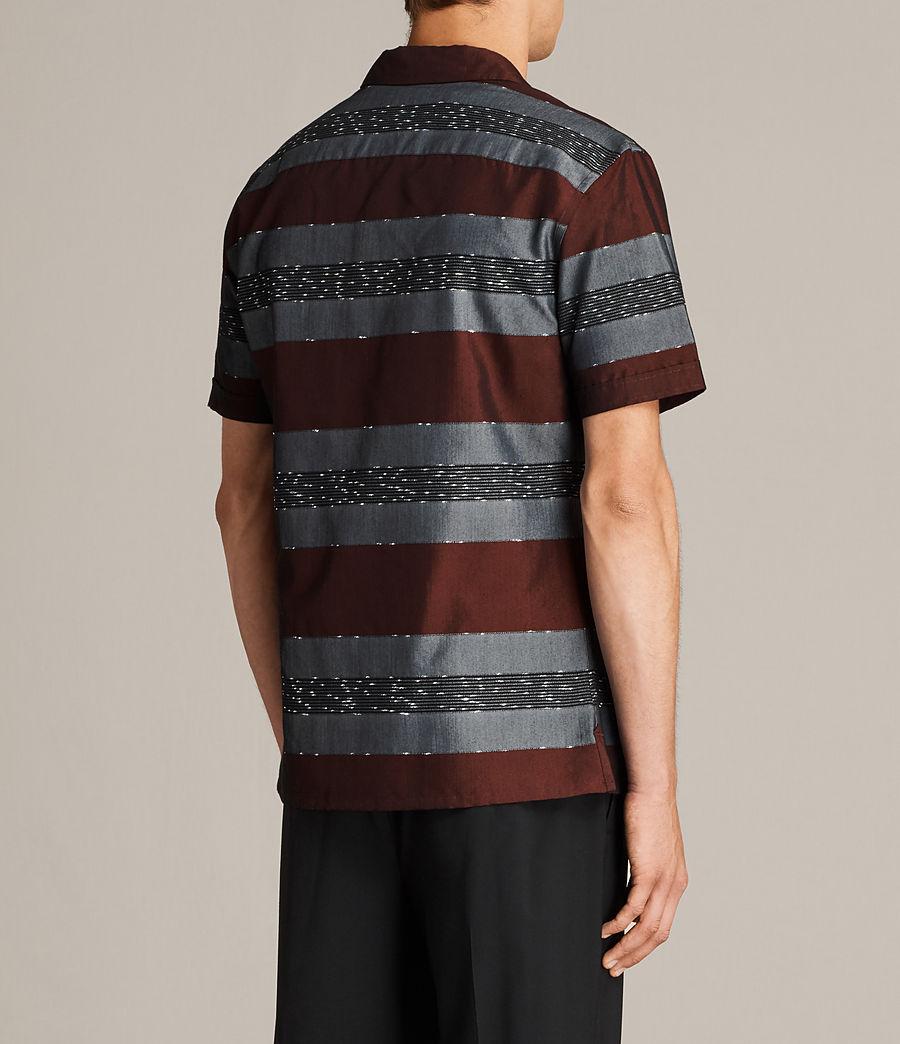 Men's Gabon Short Sleeve Shirt (red) - Image 4