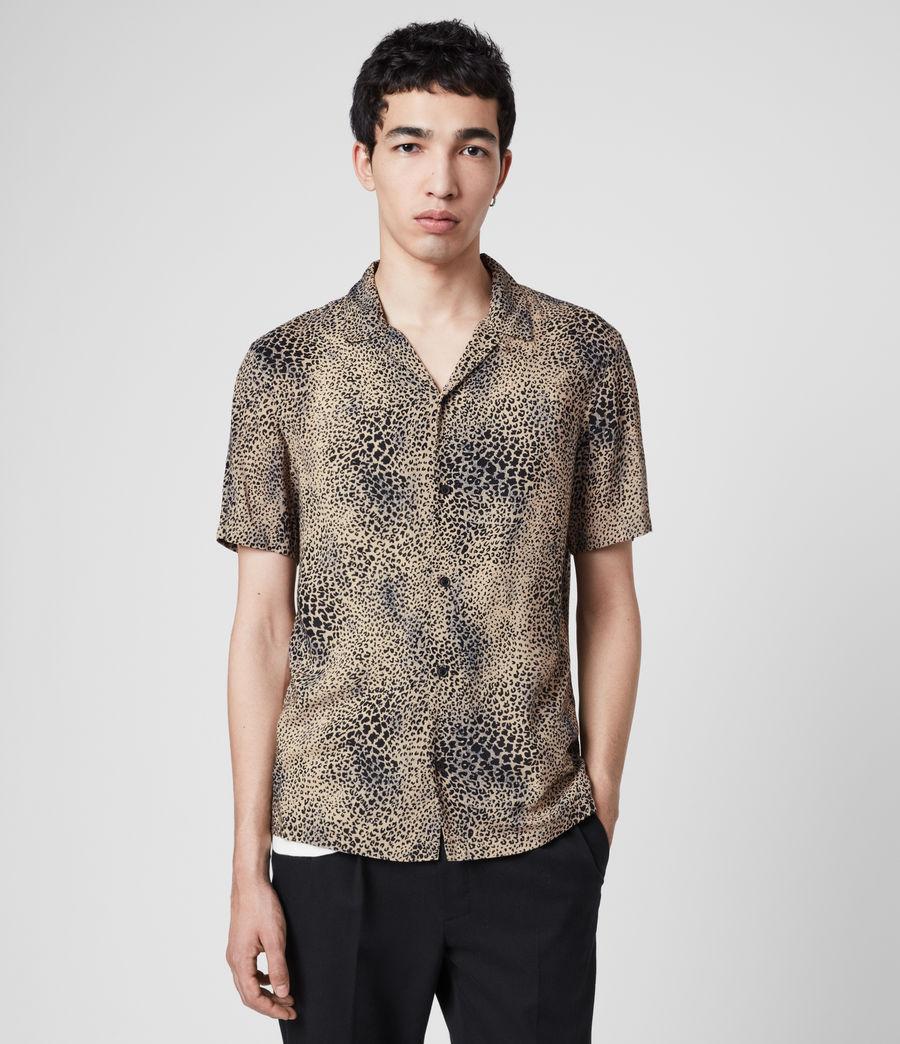 Uomo Camicia Diffusion - Con stampa leopardo (brown_black) - Image 1