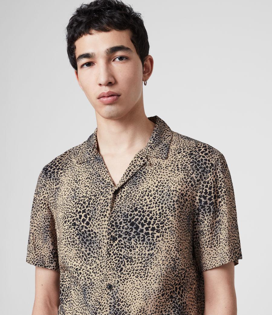 Uomo Camicia Diffusion - Con stampa leopardo (brown_black) - Image 2