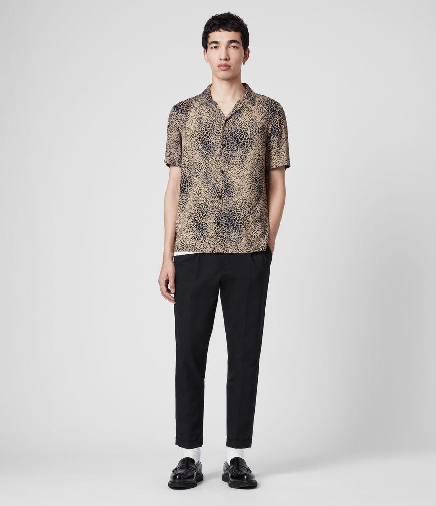 Uomo Camicia Diffusion - Con stampa leopardo (brown_black) - Image 3