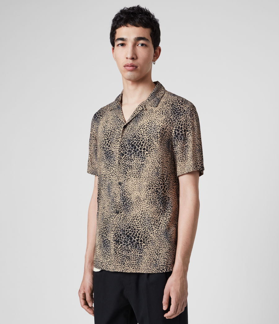 Uomo Camicia Diffusion - Con stampa leopardo (brown_black) - Image 4
