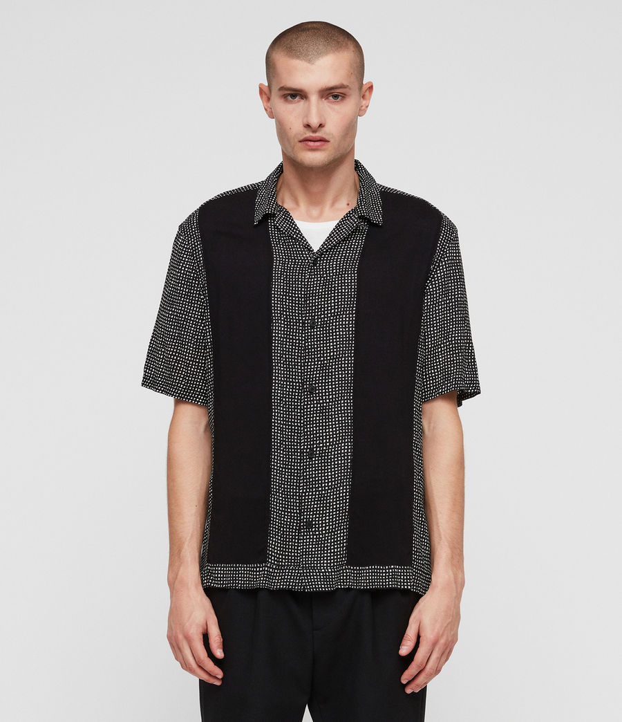 Men's Grid Shirt (black) - Image 1
