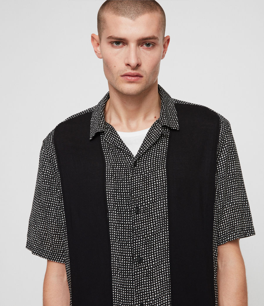 Men's Grid Shirt (black) - Image 2