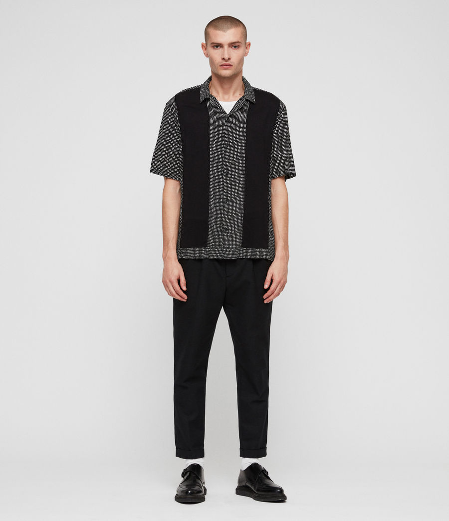 Men's Grid Shirt (black) - Image 3