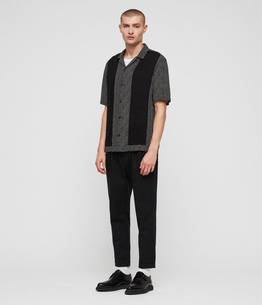 Men's Grid Shirt (black) - Image 4